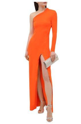 Женские кожаные босоножки janie DSQUARED2 серебряного цвета, арт. HSW0164 10000001   Фото 2