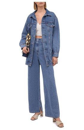 Женские джинсы ganni x levi's GANNI голубого цвета, арт. F6090 | Фото 2