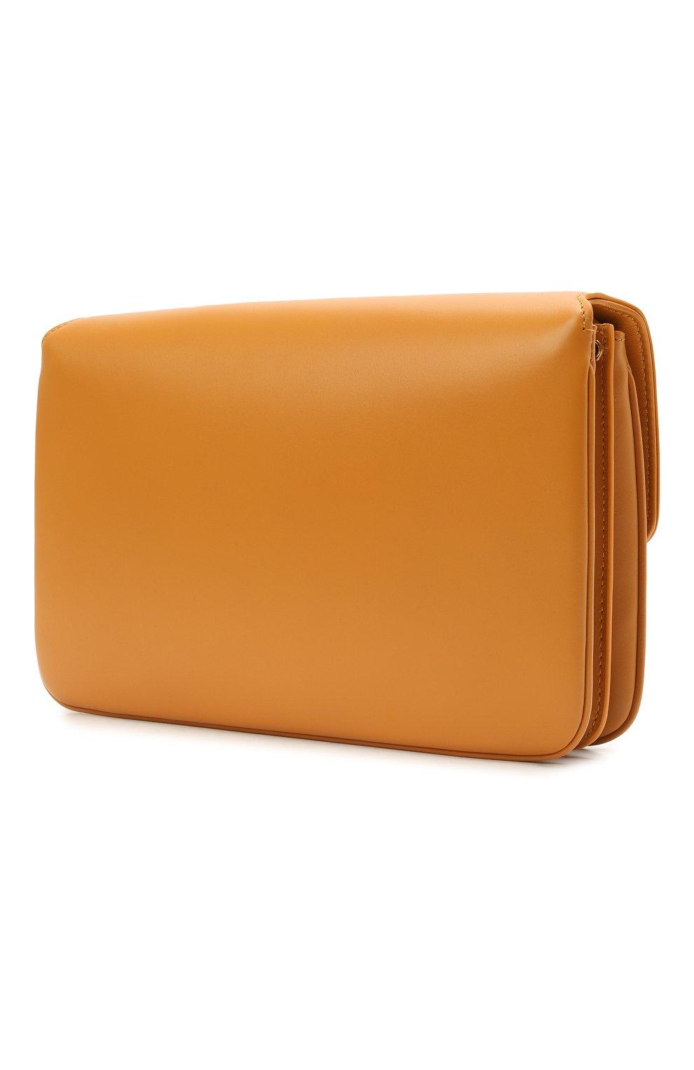 Женская сумка maillon SAINT LAURENT желтого цвета, арт. 649795/2R20W | Фото 3 (Сумки-технические: Сумки через плечо; Материал: Натуральная кожа; Ремень/цепочка: На ремешке; Размер: small)