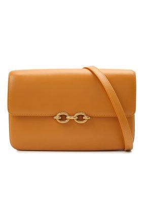 Женская сумка maillon SAINT LAURENT желтого цвета, арт. 649795/2R20W | Фото 5 (Сумки-технические: Сумки через плечо; Материал: Натуральная кожа; Ремень/цепочка: На ремешке; Размер: small)
