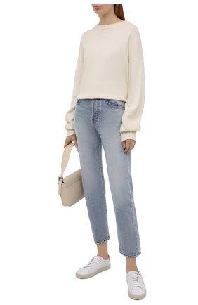 Женские кожаные кеды sl/06 SAINT LAURENT белого цвета, арт. 610649/00NI0 | Фото 2