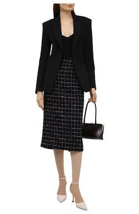 Женская юбка ALESSANDRA RICH черно-белого цвета, арт. FAB1817-F3170   Фото 2