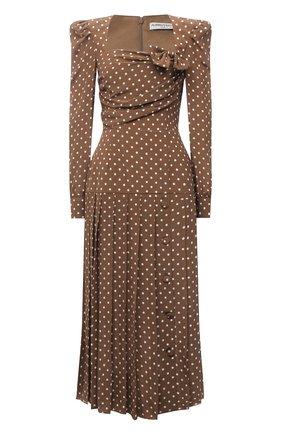 Женское шелковое платье ALESSANDRA RICH коричневого цвета, арт. FAB2361-F3132   Фото 1