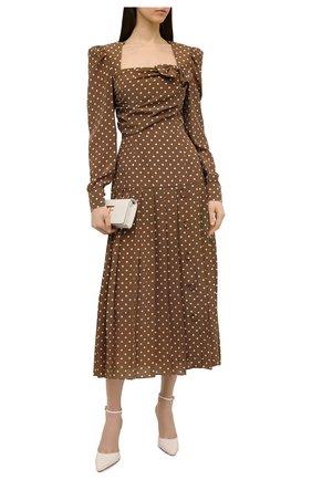 Женское шелковое платье ALESSANDRA RICH коричневого цвета, арт. FAB2361-F3132   Фото 2