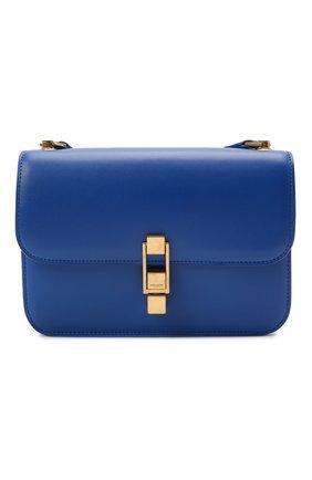 Женская сумка carre SAINT LAURENT синего цвета, арт. 633214/1YF0W   Фото 1