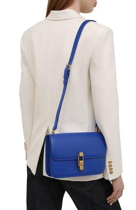 Женская сумка carre SAINT LAURENT синего цвета, арт. 633214/1YF0W   Фото 2