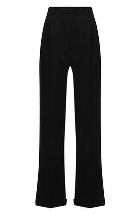 Женские шерстяные брюки SAINT LAURENT черного цвета, арт. 646856/Y512W   Фото 1