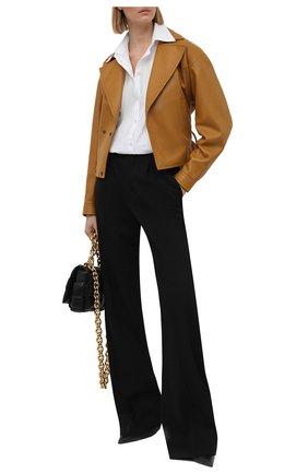 Женские шерстяные брюки SAINT LAURENT черного цвета, арт. 646856/Y512W   Фото 2