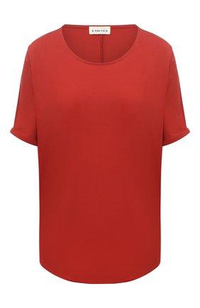 Женская футболка из вискозы 5PREVIEW красного цвета, арт. 5PW21045 | Фото 1