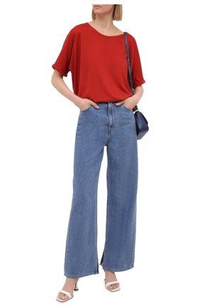 Женская футболка из вискозы 5PREVIEW красного цвета, арт. 5PW21045 | Фото 2