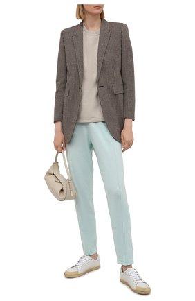 Женские брюки FTC голубого цвета, арт. 826-0531 | Фото 2
