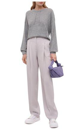 Женский кашемировый пуловер FTC серого цвета, арт. 830-0570   Фото 2