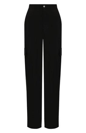 Женские брюки из вискозы 5PREVIEW черного цвета, арт. 5PW21103 | Фото 1