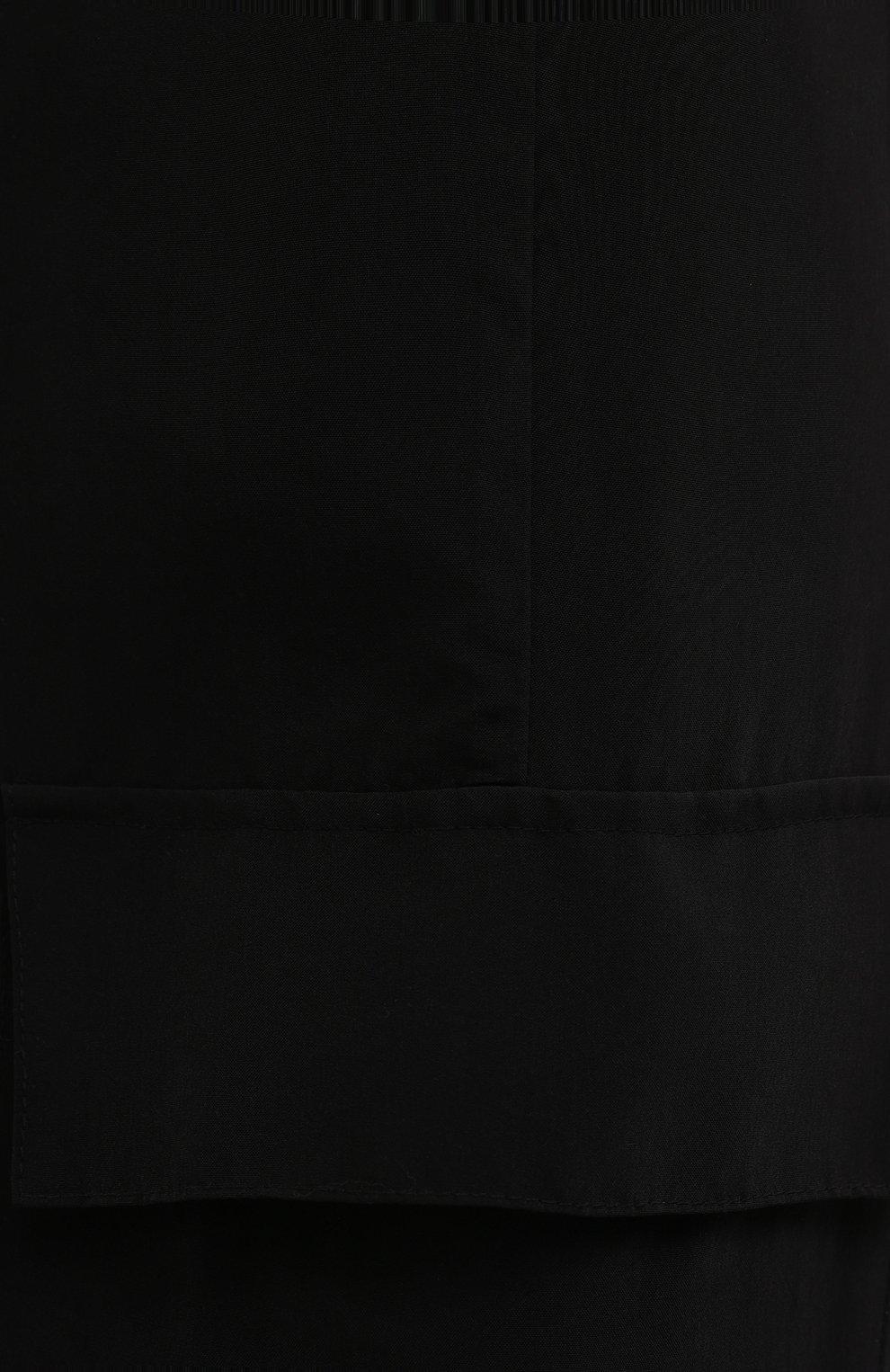 Женские брюки из вискозы 5PREVIEW черного цвета, арт. 5PW21103 | Фото 5 (Материал внешний: Купро, Вискоза; Длина (брюки, джинсы): Стандартные; Женское Кросс-КТ: Брюки-одежда; Силуэт Ж (брюки и джинсы): Прямые; Стили: Кэжуэл)
