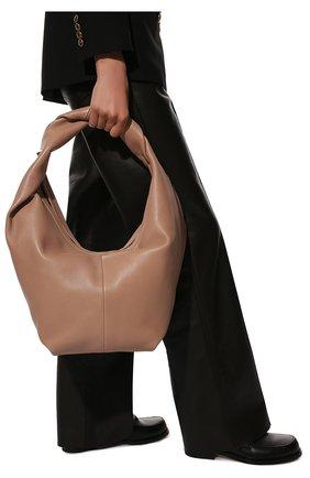 Женская сумка roman stud VALENTINO бежевого цвета, арт. VW0B0J14/BSF | Фото 2 (Размер: small; Материал: Натуральная кожа; Сумки-технические: Сумки top-handle)