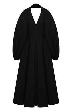 Женское хлопковое платье ERIKA CAVALLINI черного цвета, арт. S1/E/E1SJ01 | Фото 1
