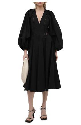 Женское хлопковое платье ERIKA CAVALLINI черного цвета, арт. S1/E/E1SJ01 | Фото 2
