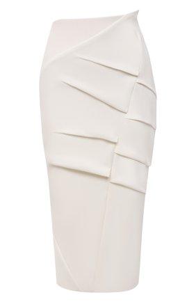 Женская шерстяная юбка ROLAND MOURET белого цвета, арт. SS21/S2234/F0491   Фото 1