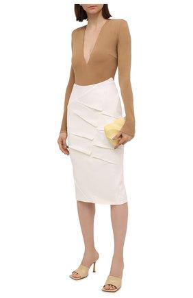 Женская шерстяная юбка ROLAND MOURET белого цвета, арт. SS21/S2234/F0491   Фото 2