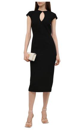 Женское платье ROLAND MOURET черного цвета, арт. SS21/S2270/F2196 | Фото 2