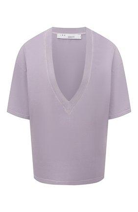 Женская хлопковая футболка IRO сиреневого цвета, арт. WM19C0SBIE | Фото 1