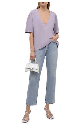 Женская хлопковая футболка IRO сиреневого цвета, арт. WM19C0SBIE | Фото 2