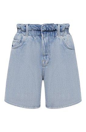 Женские джинсовые шорты FRAME DENIM голубого цвета, арт. EWSH207/A | Фото 1 (Длина Ж (юбки, платья, шорты): Мини; Женское Кросс-КТ: Шорты-одежда; Материал внешний: Хлопок)