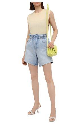 Женские джинсовые шорты FRAME DENIM голубого цвета, арт. EWSH207/A | Фото 2 (Длина Ж (юбки, платья, шорты): Мини; Женское Кросс-КТ: Шорты-одежда; Материал внешний: Хлопок)
