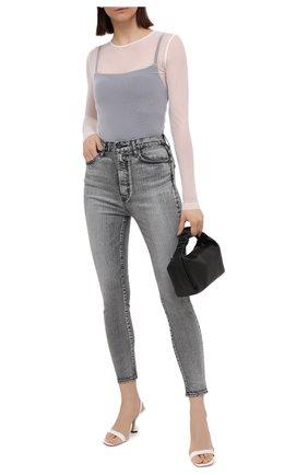 Женские джинсы MOUSSY серого цвета, арт. 025ESC12-2590 | Фото 2