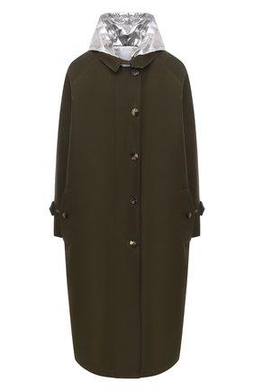 Женское пальто из хлопка и вискозы PACO RABANNE хаки цвета, арт. 21ECMA115C00222 | Фото 1