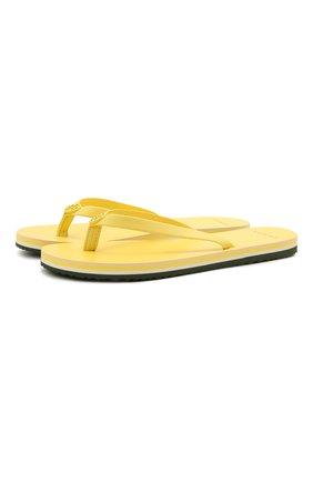 Женские шлепанцы TORY BURCH желтого цвета, арт. 76732 | Фото 1
