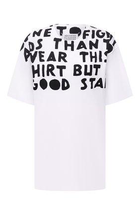 Женская хлопковая футболка MAISON MARGIELA белого цвета, арт. S51GC0427/S22816   Фото 1