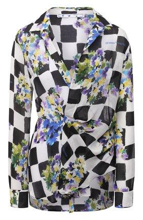 Женская блузка из вискозы OFF-WHITE разноцветного цвета, арт. 0WGA095S21FAB001 | Фото 1