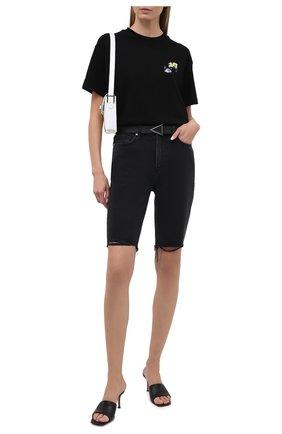 Женская хлопковая футболка OFF-WHITE черного цвета, арт. 0WAA089S21JER002 | Фото 2