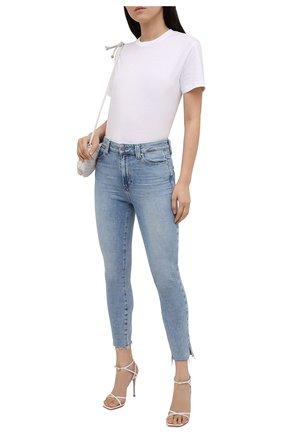 Женские джинсы PAIGE голубого цвета, арт. 6607E77-3173 | Фото 2