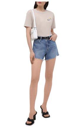 Женские джинсовые шорты PAIGE голубого цвета, арт. 6041I07-4324 | Фото 2
