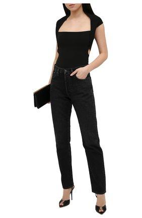 Женские кожаные босоножки xsl SAINT LAURENT черного цвета, арт. 658053/2V700 | Фото 2 (Материал внутренний: Натуральная кожа; Каблук тип: Шпилька; Подошва: Плоская; Каблук высота: Высокий)