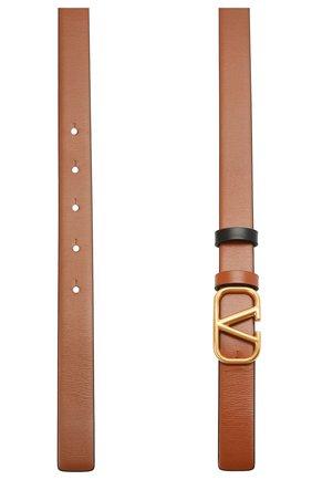 Женский кожаный ремень  VALENTINO коричневого цвета, арт. WW2T0S12/ZFR | Фото 2