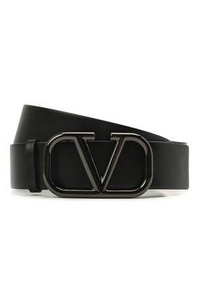 Женский кожаный ремень  VALENTINO черного цвета, арт. WW2T0S11/MFI | Фото 1