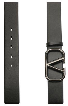 Женский кожаный ремень  VALENTINO черного цвета, арт. WW2T0S11/MFI | Фото 2