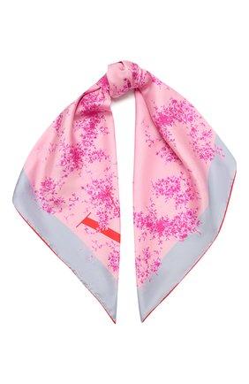 Женский шелковый платок  VALENTINO розового цвета, арт. WW2EI114/BAN | Фото 1