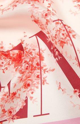 Женский шелковый платок  VALENTINO светло-розового цвета, арт. WW2EI114/BAN | Фото 2
