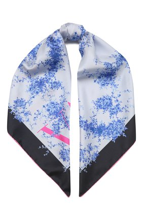 Женский шелковый платок  VALENTINO голубого цвета, арт. WW2EI114/BAN | Фото 1