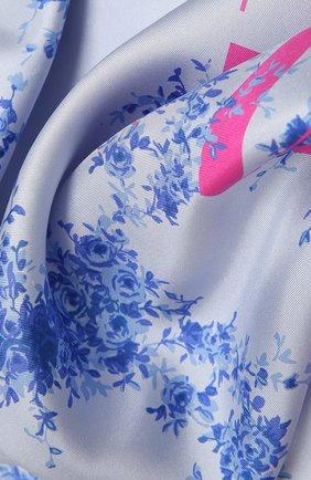 Женский шелковый платок  VALENTINO голубого цвета, арт. WW2EI114/BAN | Фото 2