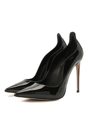 Женские кожаные туфли deco ivy LE SILLA черного цвета, арт. 2102R100R1PPKAB   Фото 1