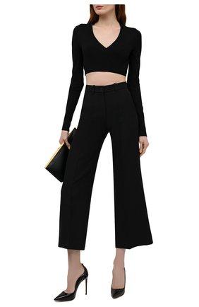 Женские кожаные туфли deco ivy LE SILLA черного цвета, арт. 2102R100R1PPKAB   Фото 2