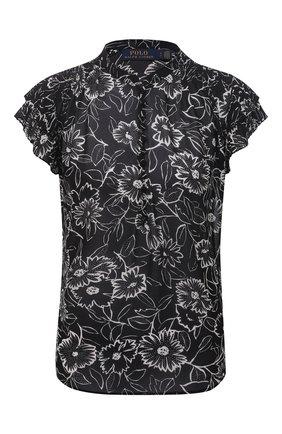 Женская блузка POLO RALPH LAUREN черно-белого цвета, арт. 211838921   Фото 1