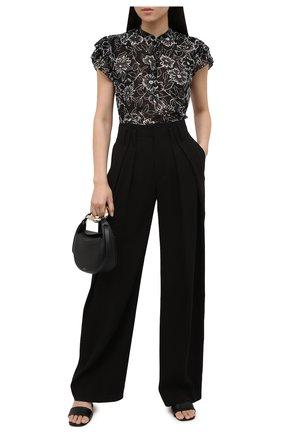 Женская блузка POLO RALPH LAUREN черно-белого цвета, арт. 211838921   Фото 2