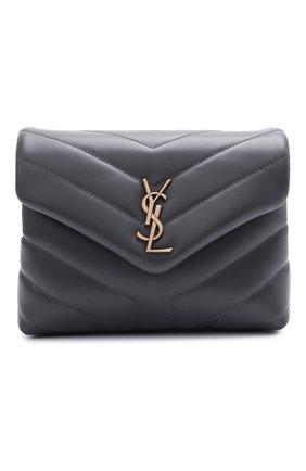 Женская сумка loulou mini SAINT LAURENT темно-серого цвета, арт. 630951/DV707   Фото 1
