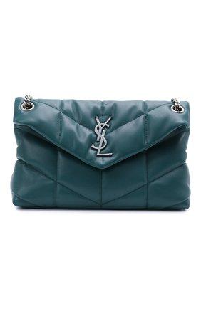 Женская сумка puffer loulou small SAINT LAURENT бирюзового цвета, арт. 577476/1EL06 | Фото 1